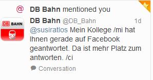 Deutsche Bahn Twitter